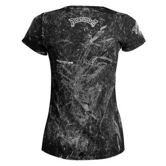 t-shirt hardcore women's - CHURCH OF SATAN - AMENOMEN - OMEN053DA ALLPRINT WHITE
