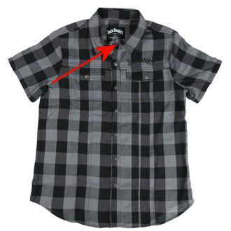 shirt men Jack Daniels - Checks - Black/Grey - DAMAGED, JACK DANIELS