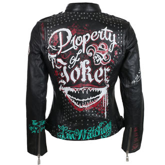leather jacket women's Suicide Squad - Property of Joker -
