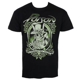 t-shirt metal men's Poison - Black - HYBRIS, HYBRIS, Poison