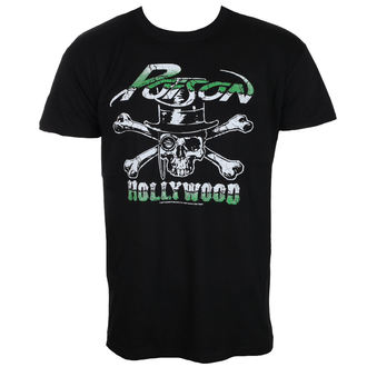 t-shirt metal men's Poison - Hollywood - HYBRIS - ER-1-POIS002-H72-7-BK