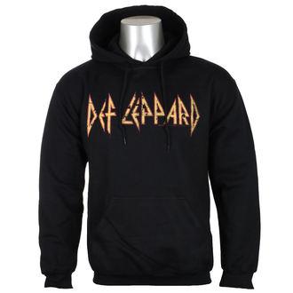 hoodie men Def Leppard - Distressed Logo - Black - HYBRIS, HYBRIS, Def Leppard