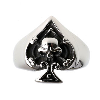 ring ETNOX - Ace of Spades - Skull, ETNOX