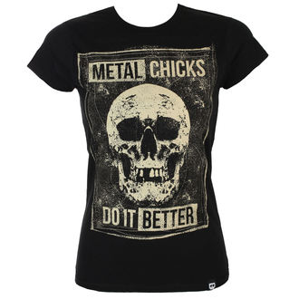t-shirt hardcore women's - SKULL - METAL CHICKS DO IT BETTER - MCDIB019