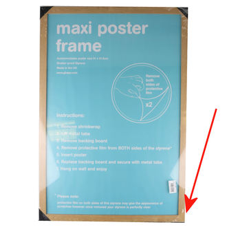 frame to poster (61x91,5 cm) - Oak - GB Posters - DAMAGED, GB posters