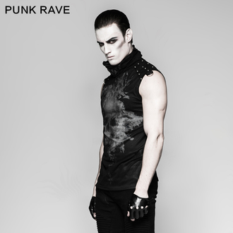 Top Men's PUNK RAVE - Ghosts, PUNK RAVE