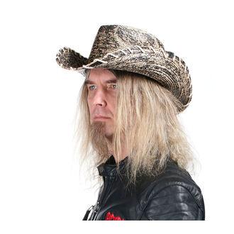 Hat WORNSTAR - Hellrider HS Black & Natural Rocker Cowboy, WORNSTAR
