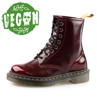 boty 8 dírkové Dr. Martens - Cambridge Brush - Vegan 1460 - Cherry Red e1d564fd95