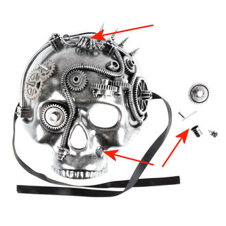 mask ZOELIBAT - Steampunk-Halbmaske Skull - DAMAGED