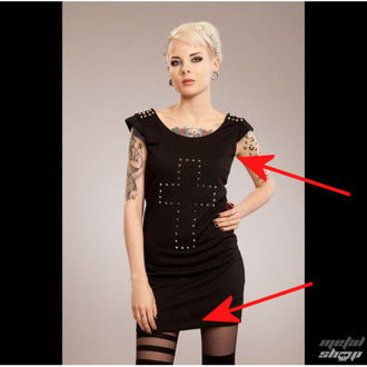 dress women POIZEN INDUSTRIES - Cross Spike - Black - DAMAGED, POIZEN INDUSTRIES