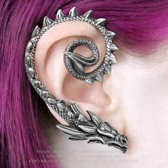 Earring ALCHEMY GOTHIC - Ostrogoth Dragon, ALCHEMY GOTHIC