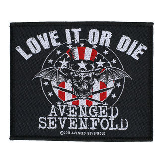 patch AVENGED SEVENFOLD - LOVE IT OR DIE - RAZAMATAZ, RAZAMATAZ, Avenged Sevenfold