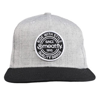 Cap MEATFLY - COMP SNAPBACK B - GREY HEATHER / BLACK, MEATFLY