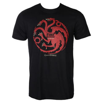 film t-shirt men's Hra o trůny - FIRE AND BLOOD - PLASTIC HEAD, PLASTIC HEAD