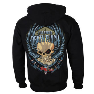 hoodie men's Five Finger Death Punch - Trouble - ROCK OFF, ROCK OFF, Five Finger Death Punch