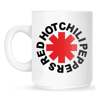 Mug Red Hot Chili Peppers - Original Logo Astrisk - White, Red Hot Chili Peppers