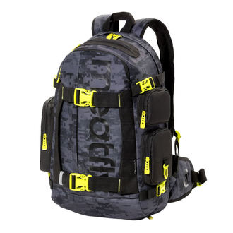 Backpack MEATFLY - WANDERER 4 - D - Binary Camo Grey, MEATFLY