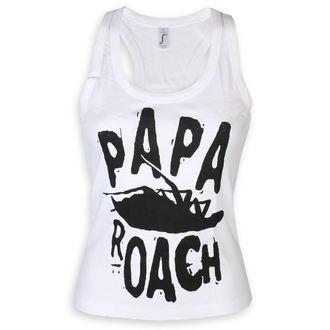 Women's tank top Papa Roach - Classic Logo - White - KINGS ROAD, KINGS ROAD, Papa Roach