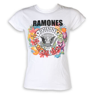 t-shirt metal women's Ramones - Circle Flowers - ROCK OFF, ROCK OFF, Ramones