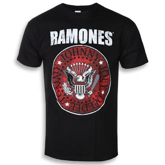 t-shirt metal men's Ramones - Red Fill Seal - ROCK OFF, ROCK OFF, Ramones