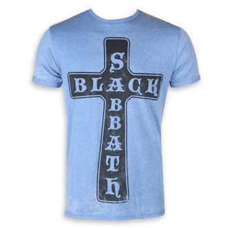 t-shirt metal men's Black Sabbath - Burnout Mid Blue - ROCK OFF, ROCK OFF, Black Sabbath