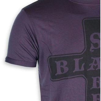 t-shirt metal men's Black Sabbath - Burnout Navy/Red - ROCK OFF, ROCK OFF, Black Sabbath