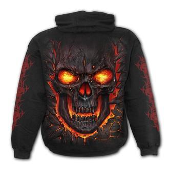 hoodie children's - SKULL LAVA- Black - SPIRAL, SPIRAL