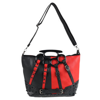 Handbag (bag) POIZEN INDUSTRIES - HARLEY - BLACK / RED, POIZEN INDUSTRIES