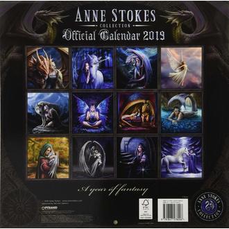 Calendar for year 2019 ANNE STOKES, ANNE STOKES