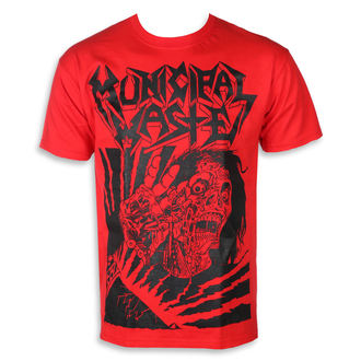 t-shirt metal men's Municipal Waste - Skelbot red -, Municipal Waste