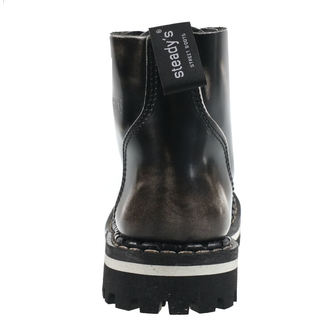leather boots unisex - STEADY´S - STE/6/PAS_white/black