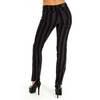 pants men 3RDAND56th - Stripe Skinny - Black / Grey - JM1105