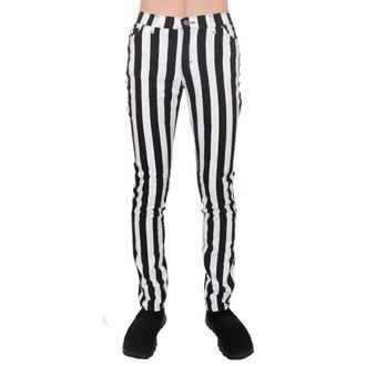pants men 3RDAND56th - Stripe Skinny - Black / white, 3RDAND56th