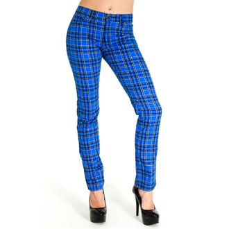 pants (unisex) 3RDAND56th - Tartan Skinny Jeans - Blue / Tartan, 3RDAND56th