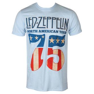 Metal T-Shirt men's Led Zeppelin - 1975 North American Tour - NNM - RTLZETSB1975