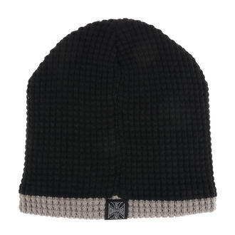 Beanie WEST COAST CHOPPERS - KNITTED - BLACK GREY, West Coast Choppers