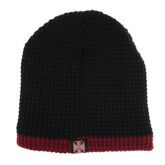 Beanie WEST COAST CHOPPERS - KNITTED - BLACK BORDEAUX, West Coast Choppers