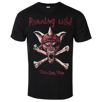 t-shirt metal men's Running Wild - UNDER JOLLY ROGER - PLASTIC HEAD - PH11637