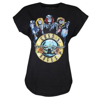t-shirt metal women's Guns N' Roses - BAND BULLET BLK - BRAVADO - 12160298