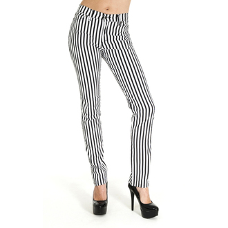 pants (unisex) 3RDAND56th - Striped Skinny - Black / White - JM1176