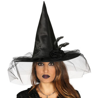 Halloween Witch Hat BLACK WITCH FLOWER