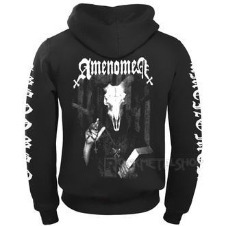 hoodie men's - DEVIL'S BIBLE - AMENOMEN - OMEN033CR