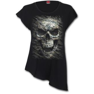 t-shirt women's - CAMO-SKULL - SPIRAL, SPIRAL