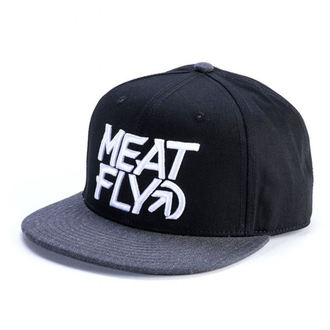 Cap MEATFLY - MOTION SNAPBACK D - BLACK / DARK HEATHER, MEATFLY