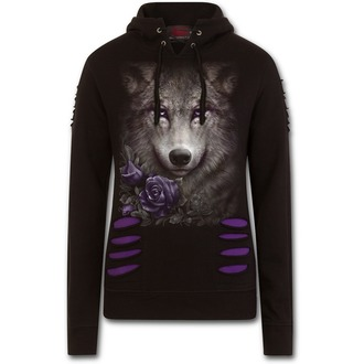 hoodie women's - WOLF ROSES - SPIRAL - T150F274