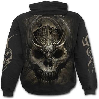 hoodie men's - DRACO SKULL - SPIRAL - K054M451