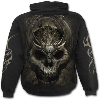 hoodie men's - DRACO SKULL - SPIRAL, SPIRAL