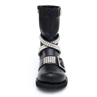 leather boots women's - DEMONIA - 56 - BLK/PU