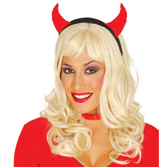 HALLOWEEN headband RED SHE-DEVIL