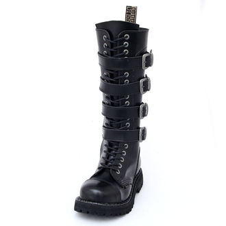 leather boots women's - - STEEL, STEEL